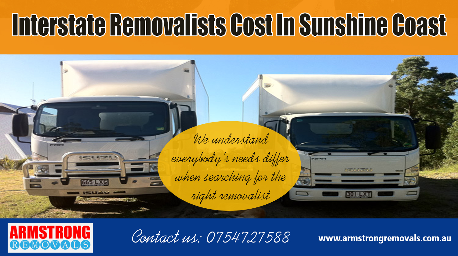 Interstate Removalists Cost In Sunshine Coast